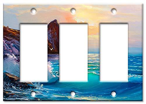 Triple Rocker (Cliffside Wandplatte/Schalterplatte für Strand Sunrise Triple Rocker Mehrfarbig)