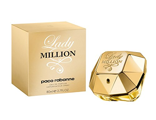Produktbild bei Amazon - Paco Rabanne Lady Million femme/ woman, Eau de Parfum, Vaporisateur/ Spray, 1er Pack (1 x 80 ml)