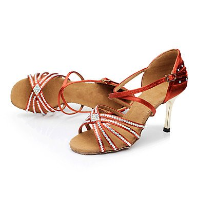 LvYuan Da donna-Sandali-Formale-Altro-A stiletto-Raso-Rosso Marrone chiaro Red