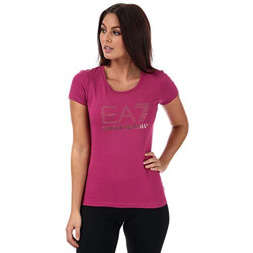 d47488828d gold emporio armani logo. Ea7 Rose Gold Stud Logo S/s T-shirt LARGE PINK