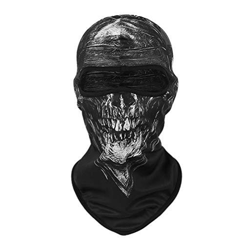 Sturmmaske Totenkopf Skull Maske 1 Stück Sturmmaske Ghost für Ski Motorrad Fahrrad Gamer Karneval - Pille Brust Kostüm