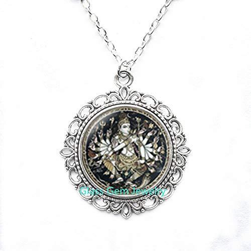Halskette mit Anhänger Hinduismus Shiva Nataraja Shiva Nataraja, Buddhistischer Schmuck, spiritueller Schmuck, Q0206
