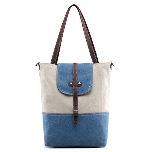 Tela Tote Tempo Libero Shopper Moda Signore Tracolla Messenger In Brossura Handbags Blue