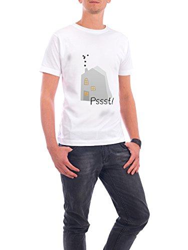 """Design T-Shirt Männer Continental Cotton """"Stilles Haus"""" - stylisches Shirt Weihnachten von OHKIMIKO Weiß"""