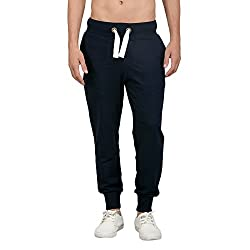 Bewakoof.com Navy Blue Slim Fit Joggers Mens Jogger Pants