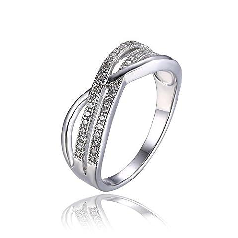 JewelryPalace 0.21ct Jolie Bague Infini Femme Fille en Argent Sterling 925 en Zircon Cubique de (Eterna Nodo)