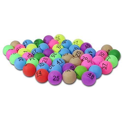 CDJX Pelotas de Ping Pong con número