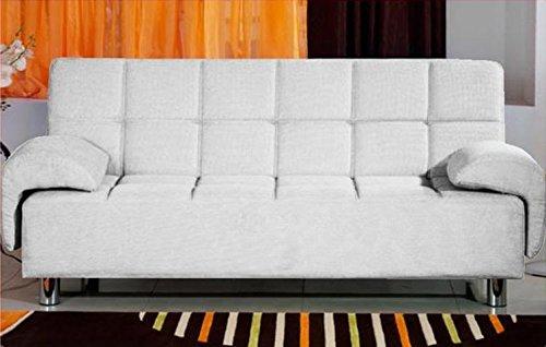 Bagno italia divano letto 200x99 bianco antiribaltamento salotto ecopelle modello angelica