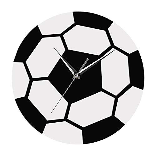 ür Wohnzimmer Fußball Zeit Fußball Schwarz Und Weiß Einfache Moderne Sport Zimmer Fußball Ball Wand Dekor Fußball Fans Schlafzimmer Kinder Zimmer Hotel Dekoration ()