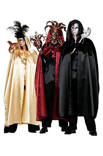 Karneval Venedig Kostüm Damen - The Fantasy Tailors Venezianisches Satin-Cape lang