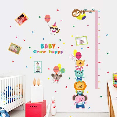 Maternelle parure bébé précoce éducation mesure hauteur souverain autocollant animal, bébé SK grandir autocollants hauteur, surdimensionné