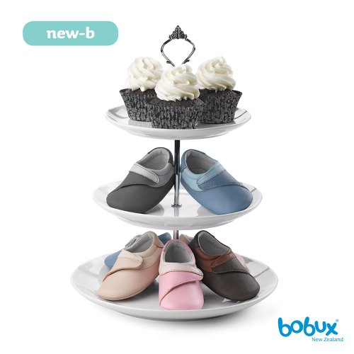 Bobux - BB-NEW-B 820401 - Chaussure Bébé - New-B Icing O/T Cake Chocolate Noir (licorice)