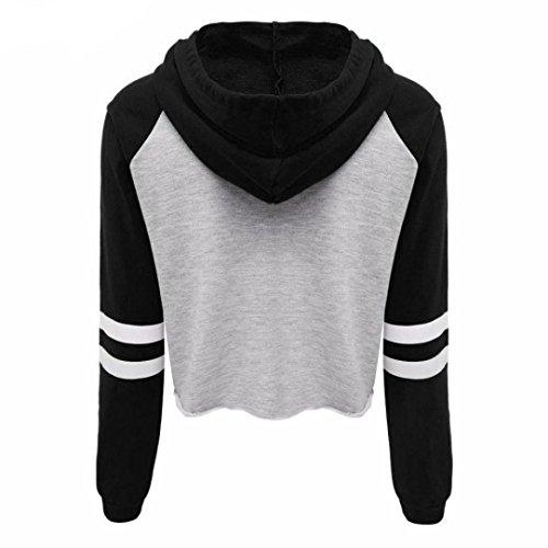 zycShang La Femme Automne - Hiver Lettres ImpriméS Pull - Over Hoodies Sweat - Shirt Dessus Noir