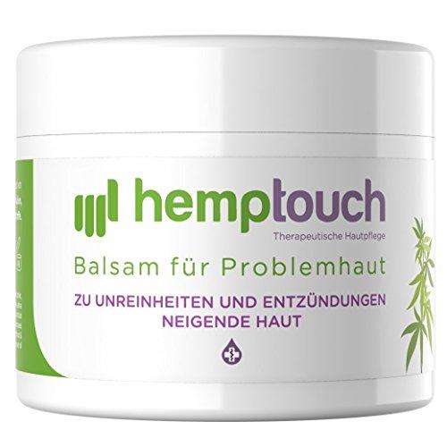 Hanf Feuchtigkeitscreme (Hanf Salbe - 200-250 mg - Hanföl Balsam für Problemhaut - biologisch angebauten Hanf - 50 ml)