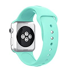 Topsic Apple Watch Bands 38mm, Soft Silicone Watch Band Sport Replacement Wristband For Apple Watch 38mm Series 3, Series 2, Series 1, Sport & Edition