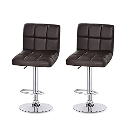 HOMDOX-XT Bar Stool Leather Modern Adjustable Swivel Barstools Hydraulic Chair, Set of 2-Shipping from DE