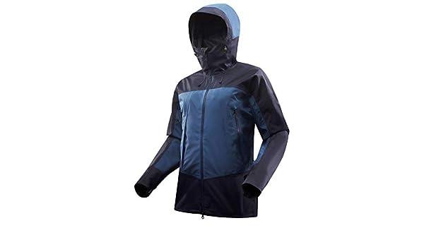 92fd2fbcec6 Buy Forclaz Trek 500 Men's Mountain Trekking Jacket - Blue (L) Online at  Low Prices in India - Amazon.in