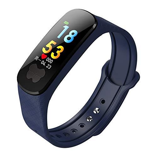AIJIE Smart Watch, EKG + PPG IPS Smart Watch IP67 Wasserdichtes Stepper-Herzfrequenz-Blutdruckmessgerät Armband Fitnessgürtel, geeignet für Ios und Android Damen, Herren, Senioren,Blue