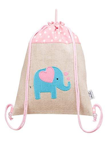 BAGI Gym Bag Elefante Hipster Bag, Bolsa de transporte, Gymbag, Stringbag, Cordón, Bolsa de yute, Bolsa, Mochila, Eco