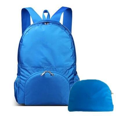&ZHOU Männer und Frauen, Multifunktionsgeldbeutel Sports Rucksack-Handtasche Großvolumige Tasche Schultertasche faltbare Rucksack Messenger Art und Weise Kurier Blue
