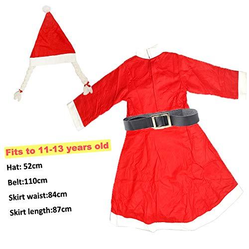Kinder Weihnachten Kostüme Rock Santa Claus Weihnachten Kostüm Mädchen Age 11-13 (Santa Rock Kostüm)