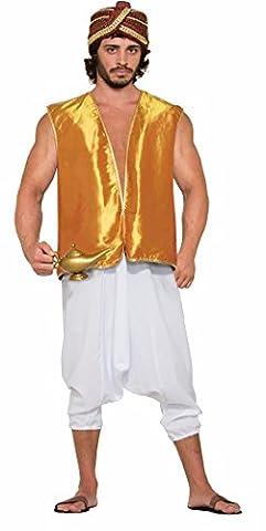 Desert Prince Gold Sultan Genie Costume Vest Adult Men Standard