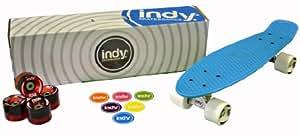 Indy Skateboards - Skateboard Retro Cruiser style années 70 - Penny/Globe/Bantam - bleu vif
