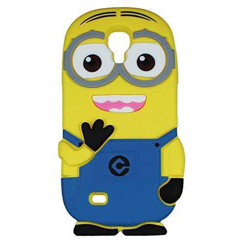 Heartly Cute Despicable Me Minion Soft Rubber Silicone Flip Bumper Best Back Case Cover For Samsung Galaxy S4 i9500 Double Eye  available at amazon for Rs.629