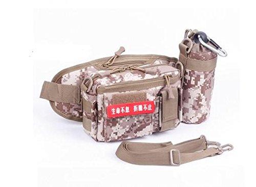 Zll/Tactical Wasser Flasche Pocket Herren Multifunktions-Sport Reiten Running Pocket Camouflage Wasser Flasche Tasche Beige