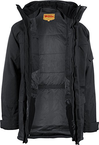 Fjällräven Parka da uomo Yupik Grigio Mountain Grey/Dark Grey S - black 550