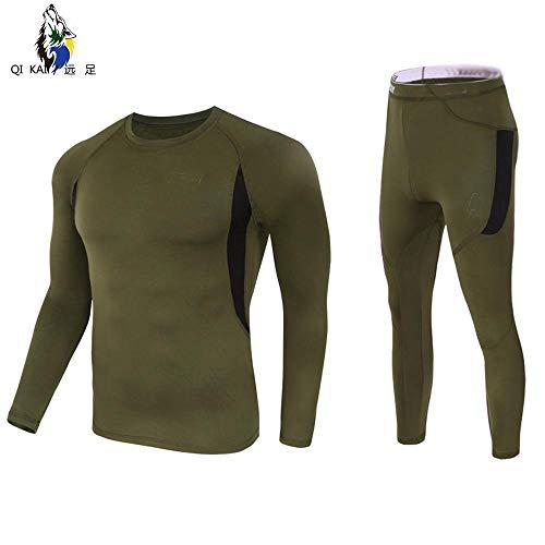 QIKAI Froschanzug Outdoor-Sport Funktionswäsche, Herren-Fleece-Thermo-Unterwäsche, Sportanzug Körperkleidung D-S - Militär-thermo-unterwäsche