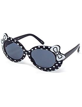 Niños de color negro niñas niños con estilo lindo diseñador gafas de sol de alta calidad con un arco y el corazón...