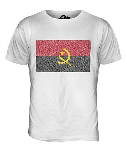 CandyMix Angola Kritzelte Flagge Herren T Shirt Weiß