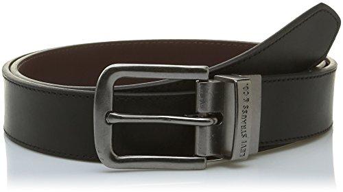 Levi's Herren Reversible Dress Belt Gürtel, Schwarz (Black), 105 cm (Herstellergröße: 105) - Reversible Herren Gürtel