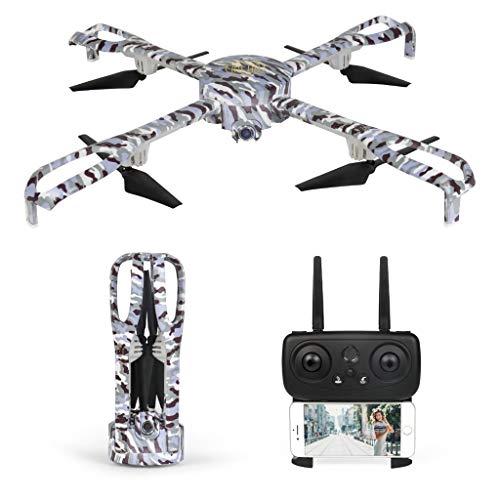 Fuibo Faltbarer Große Drohne, 1080p GPS Selfie-Drohne 5G WiFi FPV GPS RC-Drohne RTF APP One Key Folgemodus, Headless-Modus, One Key Start / Landing (Schwarz)
