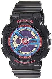 Casio Womens Quartz Watch, Analog-Digital Display and Resin Strap BA112-1A
