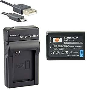 DSTE BP-1030 Li-ion Batteria e Caricabatterie USB per Samsung NX200 NX210 NX300 NX300M NX500 NX1000 NX1100 NX2000