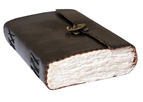 Cool Stuff Handmade diario in pelle nero fat Deckle grande libro di ombra diario rilegato, copertina 25cmx17.5cm