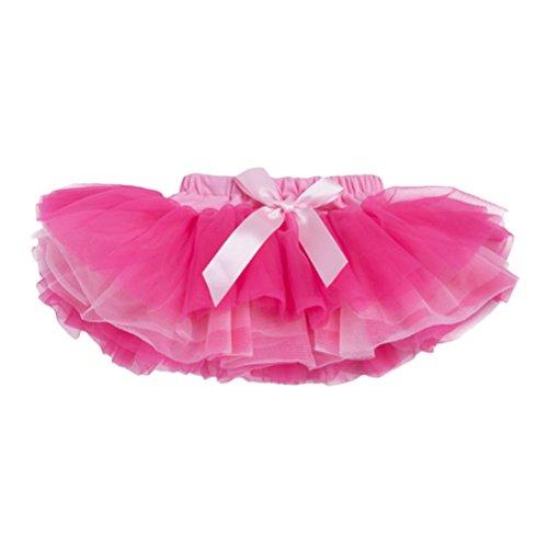 (Zhhlinyuan Multi-layers Ballet Dance Skirt Chiffon Dress Cute Baby Girls Dance Tutus Pettiskirts Size S-XL)