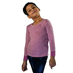 RUPA Torrido Kids Unisex Round Neck Full Sleeves Premium Thermal (Colour: Purple) (Size: 20 Inch ) (Age: 3-4 Years)