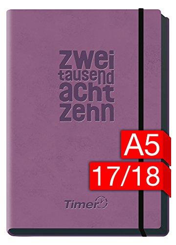 Preisvergleich Produktbild Chäff-Timer Deluxe A5 Kalender 2017/2018 [lila] 18 Monate Juli 2017-Dezember 2018 - Gummiband, Einstecktasche - Terminkalender mit Wochenplaner - Organizer - Wochenkalender