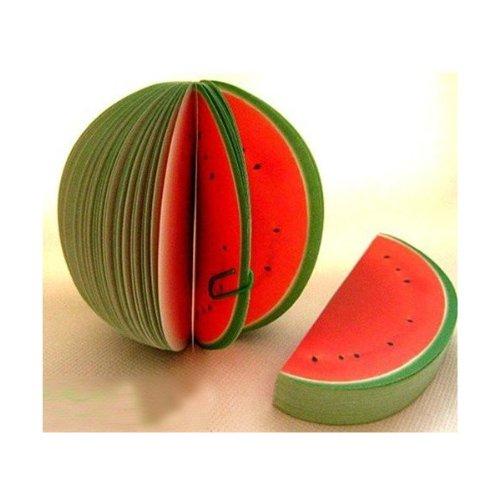 Je 2 Stück Deko - Notizblock Apfel Birne Zitrone Orange usw. viele Sorten (2 Stück Wassermelone)