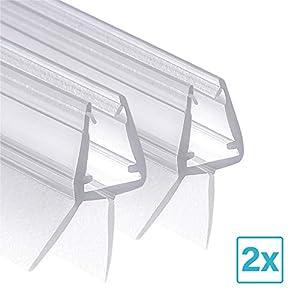 Wellba Premium Duschkabinen-Dichtung 2 x 80 cm | Duschtür Dichtung für Glastür mit 6mm 7mm oder 8mm Dicke | Wasserabweisende Duschdichtung mit optimal angeordneten Gummilippen