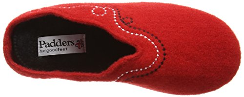 Padders Aspen, Chaussons femme Rouge - Rouge