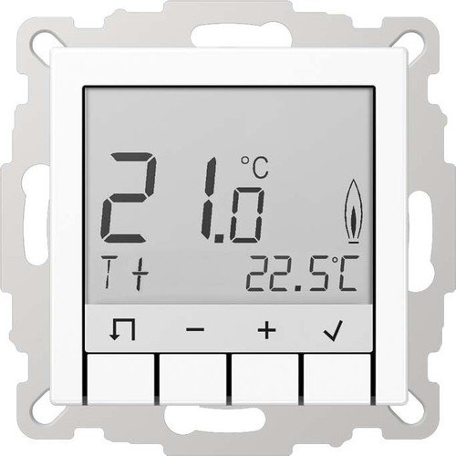 Jung serie-a - Thermostat Standard serie-a mit Display weiß alpin -