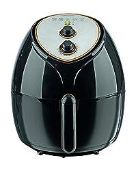 GORMETmaxx 03335 Heißluftfritteuse XXL; 1800 Watt; 5,5 Liter Fassungsvermögen; für 4-6 Personen; Zubereitung nahezu ohne Öl; Schwarz