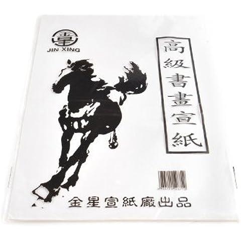 Abacus Calligrafica: papel tradicional para caligrafía china / japonesa, blanco, 45 paginas, Art. PP-01