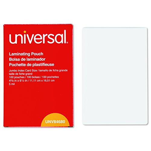 Clear Laminating Pouches, 5 mil, 4 3/8 x 6 1/2, Photo Size, 100/Box (Nachtwäsche Couture)