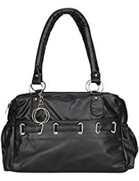 purses for women branded leather by EDGEKART | Stylish shinning PU Leather Handbag For Women and Girls - Black