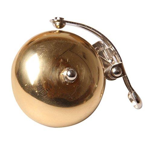 Oldtimer Fahrrad Glocke Messingring, Bluestercool Klassische Fahrrad Glocke Retro-Fahrradklingel (Gold)